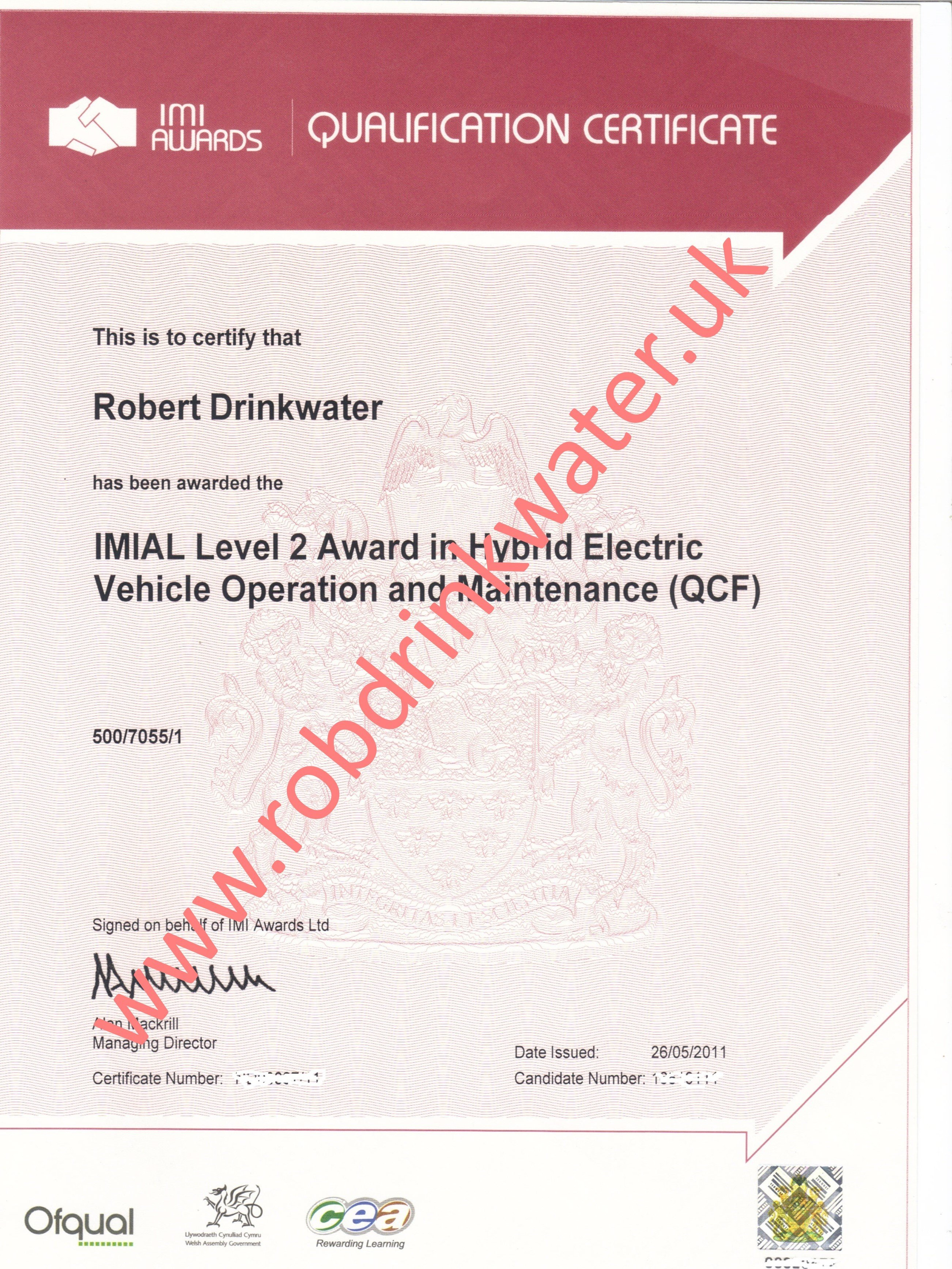IMIAL Level 2 Award in HYbrid Technology QCF